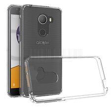 Shockproof Clear Slim Hybrid Rubber Phone Cover Case For Alcatel Tmobile Revvl
