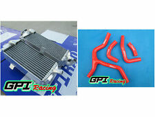 aluminum radiator + RED hose FOR Honda CRF450R CRF450 CRF 450R 2013 2014 14 13