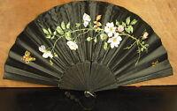 Grande Ventaglio IN Seta 1900 Firmato Silk Fan Faecher Ventaglio Seda Abanico 风扇