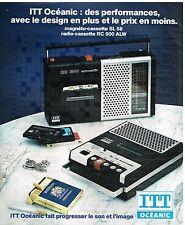 Publicité Advertising 1976 Magnéto-cassette SL 58 et radio-cassette RC 500 ITT