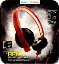 Philips O'Neill SHO4200RW Headband Headphones - Black/Red