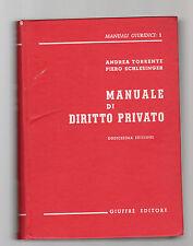manuale di diritto privato - torrente schelisenger  - 1985