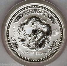 Australia 10 Dolares 2000 plata pura 10 onzas Año del DRAGON