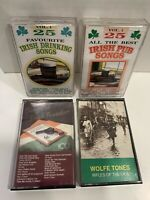 LOT of 4 IRISH Music Cassettes Traditional Ireland Colleen vtg Drinking Songs