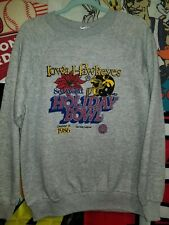 1986 Holiday Bowl Vtg Iowa Hawkeyes Football Rare Gray Crewneck Sweater XL