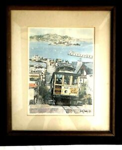 Don Davey Art Print 1968 - Landmarks Of San Francisco - Cable Car