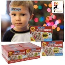 36 x Pack Halloween Assorted Horror Plasters Waterproof Sterile Boys First Aid