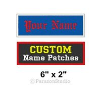 "Custom Embroidered Name Tag Sew on Patch Motorcycle Biker Badge 6"" x 2"" (B)"
