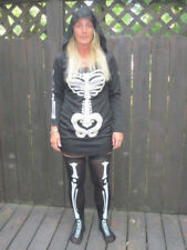 SKELETON ADULT WOMENS HALLOWEEN COSTUME SEXY RISQUE LG 12-14