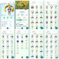 pokemon account Go Level 33 | 40 Shiny | 34 Legendary | 25 IV100 (RARE)