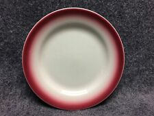 Vintage Homer Laughlin China Restaurant Ware Side Dish Plate Maroon Edge 6.5""