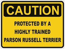 Dog Breed Parson Russell Terrier Caution Sticker Pet for Bumper Car Door Locker