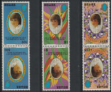 Belize (1776) - 1982 Diana's 21st TETE-BECHE PAIRS  unmounted mint