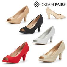 DREAM PAIRS Women's Pump Shoes Low Stilettos Heel Peep Toe Pump Dress Shoes