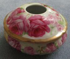 Large Roses Porcelain Hair Receiver Johann Seltmann J S Germany
