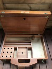 handmade wooden fly fishing Materials box