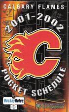 2001-02 NHL HOCKEY SCHEDULE - CALGARY FLAMES