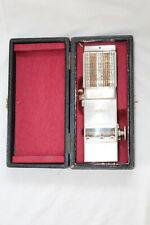 URALTE METALL RECHENMASCHINE COMPTATOR NR. 17786 MIT ETUI ANTIKE RECHENMASCHINE
