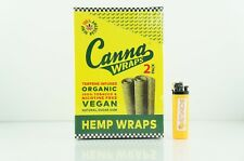 1 Box Terpene Infused Canna Organic Rolling Paper Wraps Original Made in USA