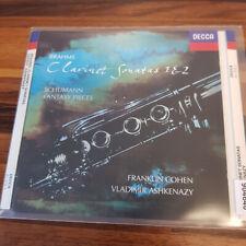 FRANKLY COHEN : Brahms - Clarinet Sonatas 1 & 2    > VG+ (CD)