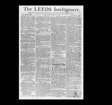 Dollshouse Miniature Newspaper - 1780 Leeds Intelligencer