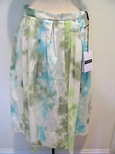 THINPLE Multicolored  Tie Dye Pleated Cotton Blend Skirt Size 44 NWT, $345.00 !!