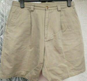 """( Ref 6268 ) Cotton Traders - W 34"""" - Men's Beige Cotton Summer Shorts"""