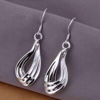 ASAMO Damen Ohrhänger Ohrringe 925 Sterling Silber plattiert Ohrschmuck O1230
