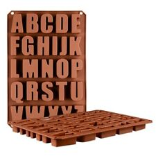 Silicone Large Alphabet Ice Chocolate Letter Mould Stencil Cake Jelly Cupcake`