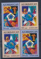 Aserbaidschan 638/39 D postfrisch / Viererblock Cept (1587) ....................