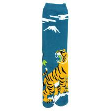 Zehensocken Tiger, blau, japanische Socken mit abgeteiltem Daumenzeh