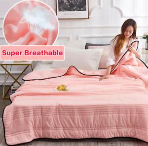 SILK COOLING BLANKET Cool Ice Silk Summer Blanket Healthy Sleep AU