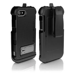 Ballistic Apple iPhone 5 Hardcore Series Case with Holster Belt Clip Black Grey