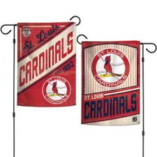 "New MLB St. Louis Cardinals 2 Sided 12.5"" X 18"" Cooperstown Garden Flag Wincraft"