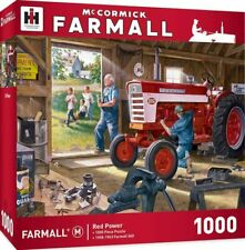 Farmall Red Power Model 560 Tractor, 1000 Piece Jigsaw Puzzle by Charles Freitag