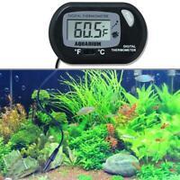 Digital LCD Thermometer Aquarium Fish Tank Vivarium Water Marine Stick On x1
