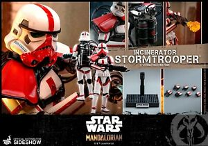 Star Wars,Hot Toys,The Mandalorian,Incinerator Stormtrooper Trooper Figure. UK.