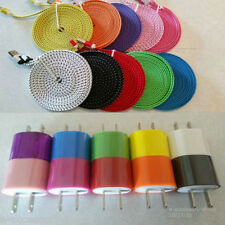 3x 10FT Micro USB Cables + 3x Wall Chargers Sync Cord Charger Charging