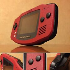 *NEW GLASS SCREEN* Nintendo Game Boy Advance GBA Red Custom System MINT NEW