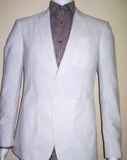 40R Jacket Unlined Fitted TAG ON BACK BURBERRY LONDON Raised Striped   40R=50E