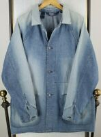 VTG POLO RALPH LAUREN Size Large Mens Barn/Chore/Prison Denim Jacket Coat Button