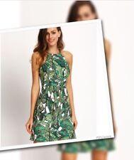 NWT Palm Print Backless Dress - Medium