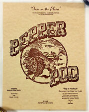 1970's Vintage LAMINATED Breakfast Menu PEPPER POD RESTAURANT & LOUNGE Hudson CO