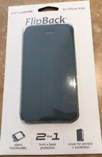 RevJams FlipBack Smart Case / Cover with Stand for Iphone 4 / 4S  Graphite Black