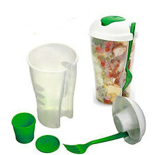 For Fork Shaker Dressing Fresh Food With Salad Container Fruit Serving Cup