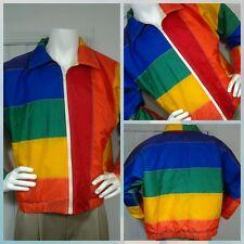 "Vintage Rare Limited Edition LTD ""THE FLAG"" Rainbow San Francisco Jacket USA  M"