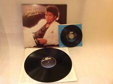 """Michael Jackson - Thriller w/lyrics (LP, Epic, 1982, EX) + bonus """"Beat It"""" 45"""