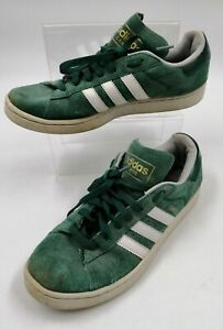 Adidas CAMPUS Mens Green Suede Trainers Size 8.5/ 42.5 worn general scuffs