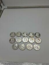 Franklin Silver Half Dollar Proof Coin Lot of 14 1962-1963 Check these out