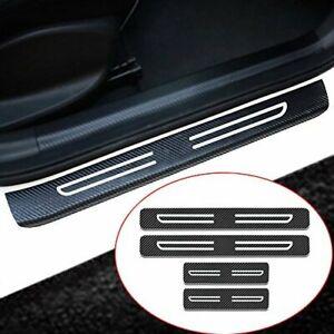 Car Door Sill 3D Carbon Fiber Protector Door Entry Guard Threshold Sticker 4pcs